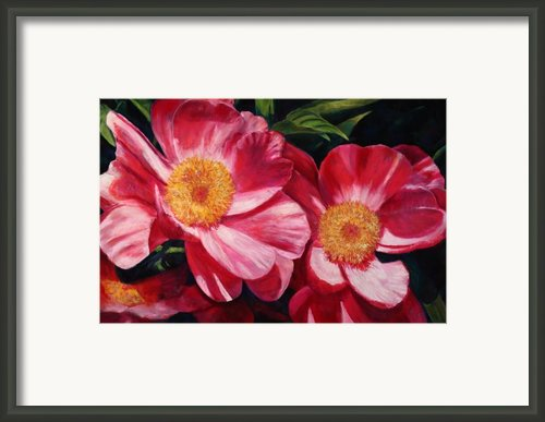 Dance Of The Peonies Framed Print By Billie Colson