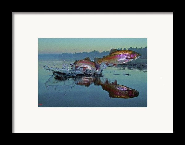Dance Of The Trout Framed Print By Brian Pelkey