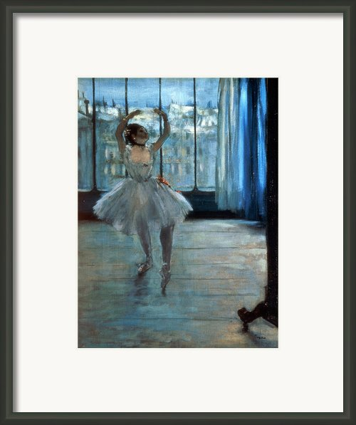 Dancer In Front Of A Window Framed Print By Edgar Degas