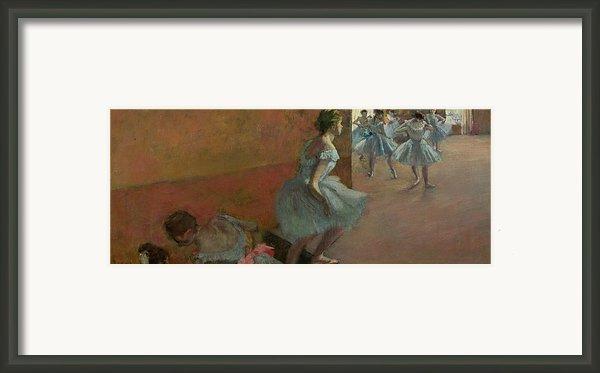 Dancers Ascending A Staircase Framed Print By Edgar Degas