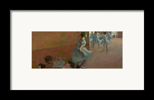 Dancers Ascending A Staircase Framed Print By Edgar Degas