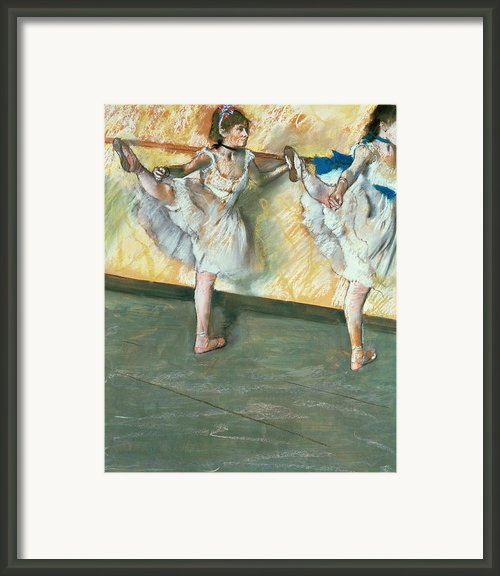Dancers At The Bar Framed Print By Edgar Degas