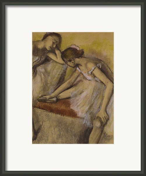 Dancers In Repose Framed Print By Edgar Degas