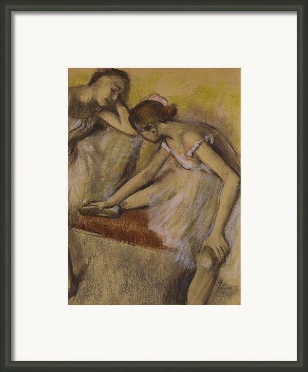 Dancers In Repose Framed Print By Edgar Degas