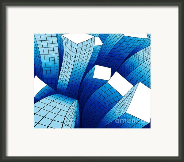Dancing Buildings Framed Print By Atiketta Sangasaeng