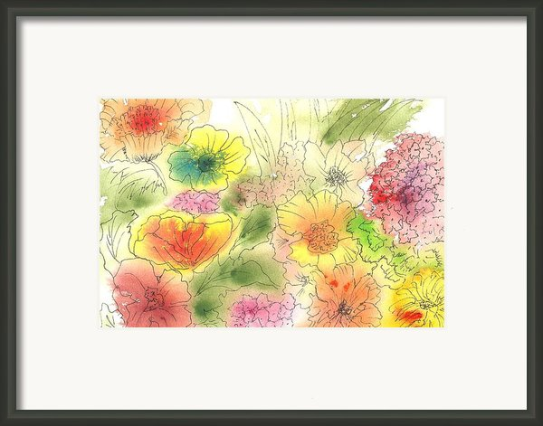 Dancing Flowers Framed Print By Christine Crawford
