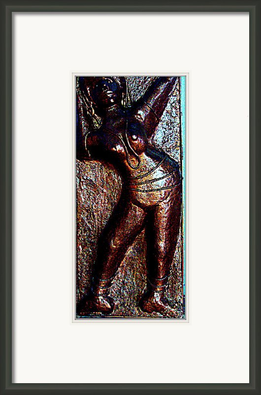 Dancing Girl Framed Print By Anand Swaroop Manchiraju