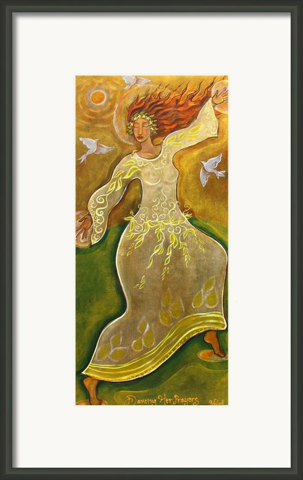 Dancing Her Prayers Framed Print By Shiloh Sophia Mccloud