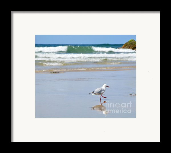 Dancing On The Beach Framed Print By Kaye Menner