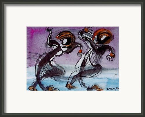 Dancing The Blues Framed Print By Dan Earle