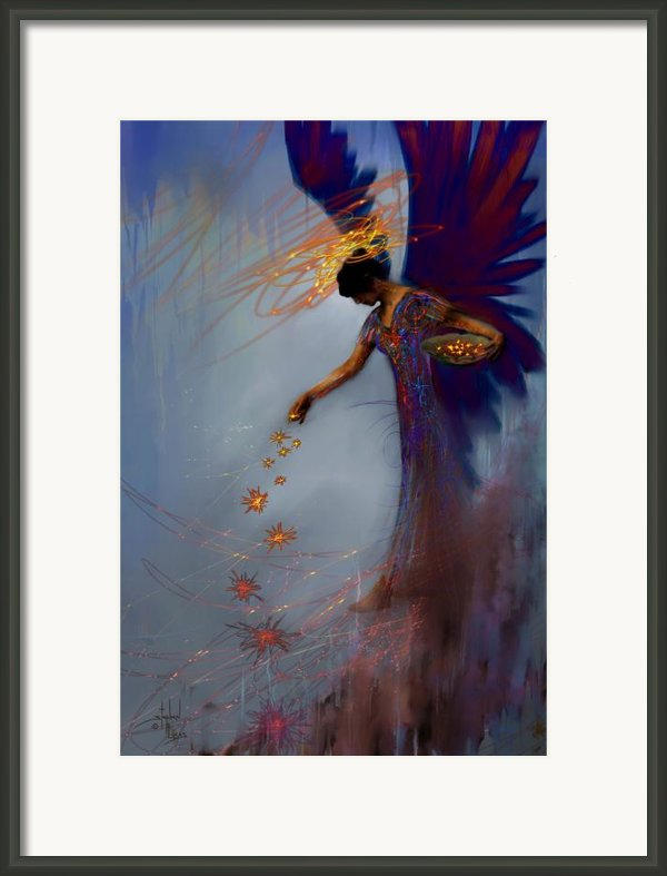 Dancing The Lifes Web Star Gifter Does Framed Print By Stephen Lucas