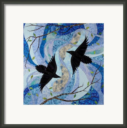 Dancing With The Chinook Framed Print By Linda Beach