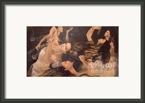 Dandelions Framed Print By Dorina  Costras
