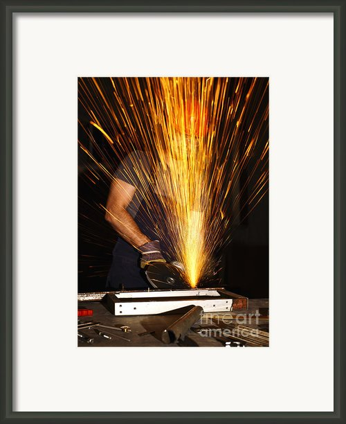 Danger At Work Framed Print By Gualtiero Boffi