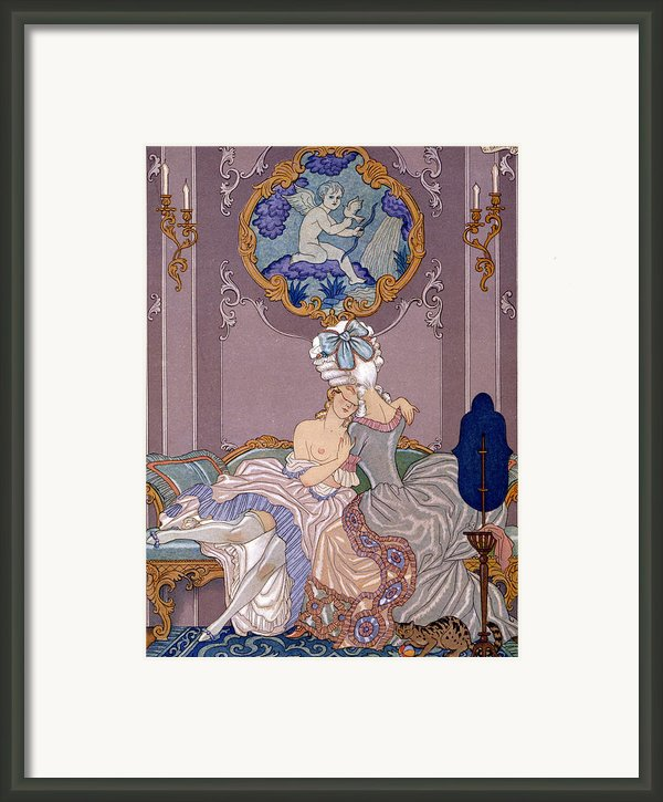 Dangerous Liaisons Framed Print By Georges Barbier