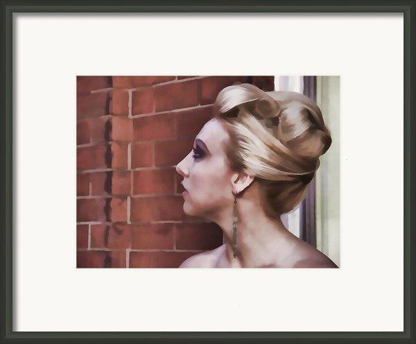 Dangling Earring Framed Print By Alice Gipson