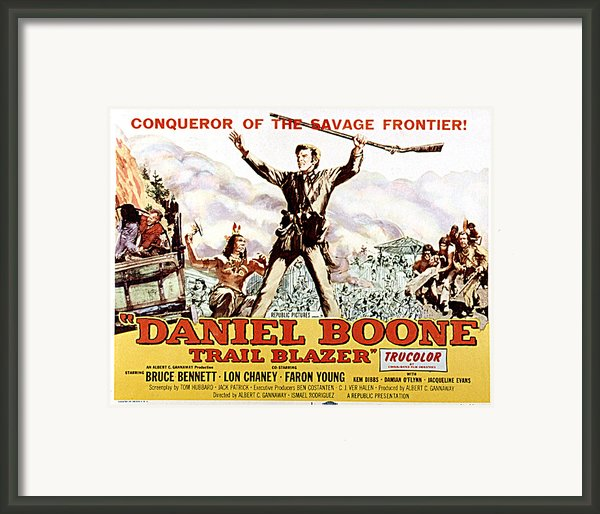 Daniel Boone, Trail Blazer, Bruce Framed Print By Everett