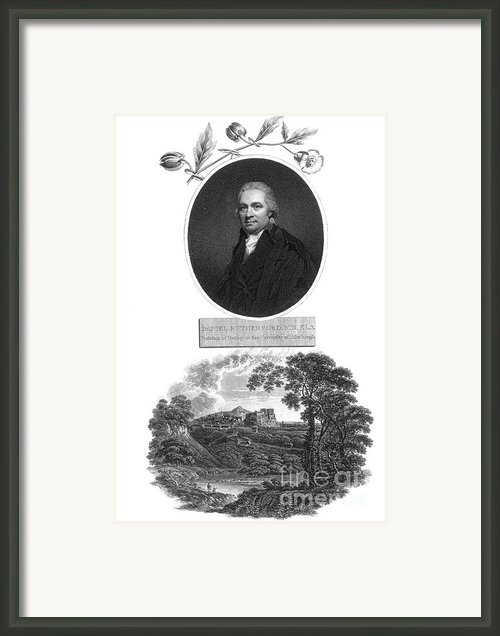 Daniel Rutherford, Scottish Chemist Framed Print By Science Source