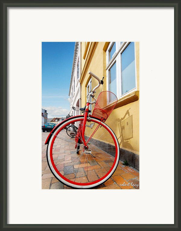 Danish Bike Framed Print By Robert Lacy