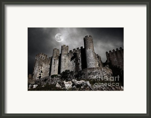 Dark Castle Framed Print By Carlos Caetano