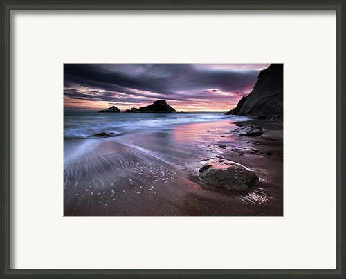 Dark Sunrise On Hidden Bay Framed Print By Danyssphoto