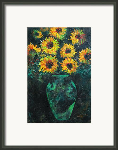 Darkened Sun Framed Print By Carrie Jackson