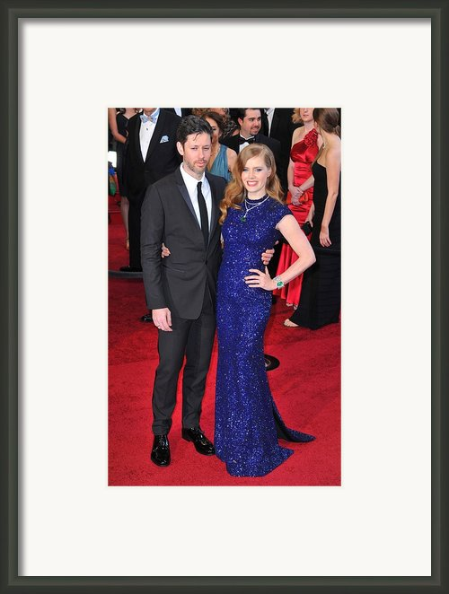 Darren Legallo, Amy Adams At Arrivals Framed Print By Everett