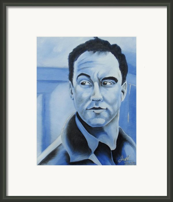 Dave Matthews - Some Devil  Framed Print By Joseph Palotas