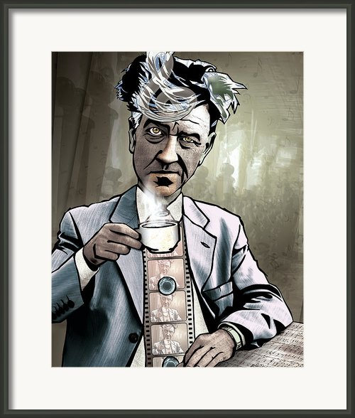 David Lynch - Strange Brew Framed Print By Sam Kirk