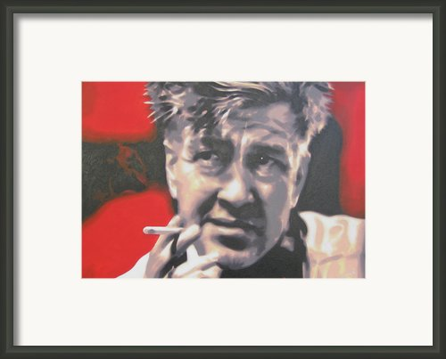 David Lynch Framed Print By Luis Ludzska