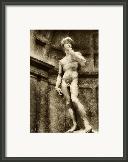 David No. 1 Framed Print By Joe Bonita