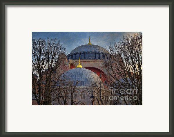 Dawn Over Hagia Sophia Framed Print By Joan Carroll