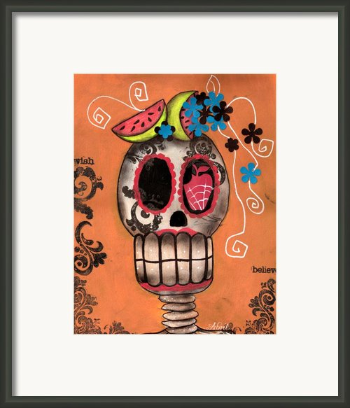 Day Of The Dead Watermelon Framed Print By  Abril Andrade Griffith