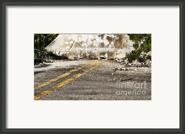 Dead End Street Framed Print By Blink Images