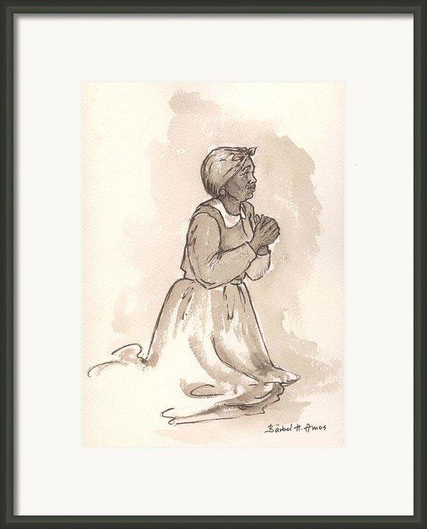 Dear God... Framed Print By Barbel Amos