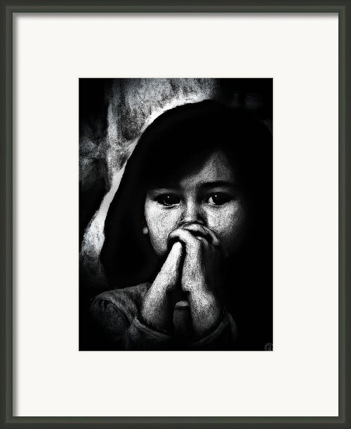 Dear God.... Framed Print By Gun Legler