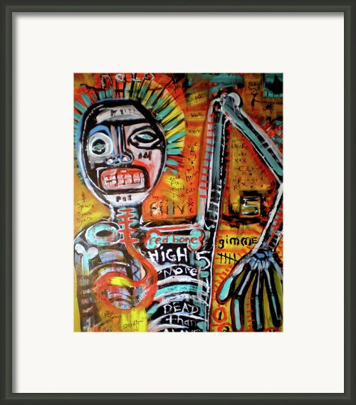Death Of Basquiat Framed Print By Robert Wolverton Jr