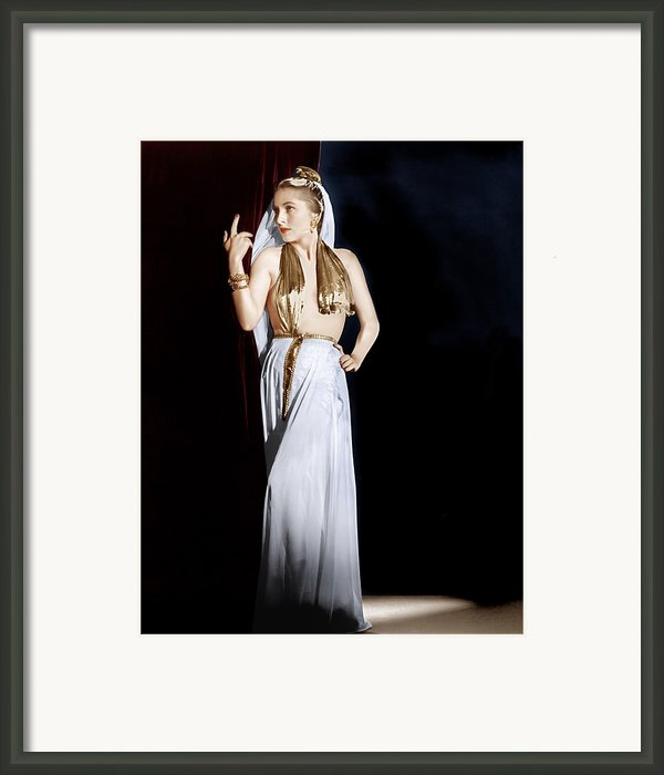 Decameron Nights, Joan Fontaine, 1953 Framed Print By Everett