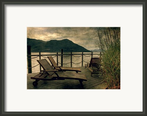 Deck Chairs Framed Print By Joana Kruse