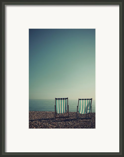 Deck Chairs On Brighton Beach Framed Print By Paul Grand Image