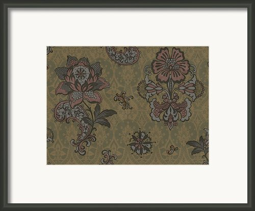 Deco Flower Brown Framed Print By Jq Licensing