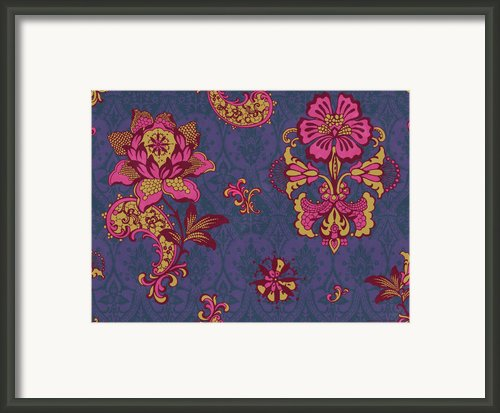 Deco Flower Purple Framed Print By Jq Licensing
