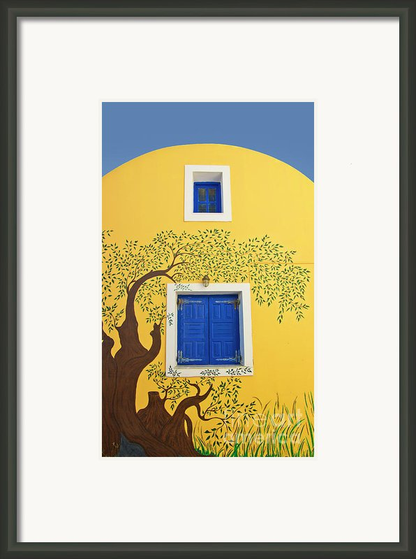 Decorated House Framed Print By Meirion Matthias