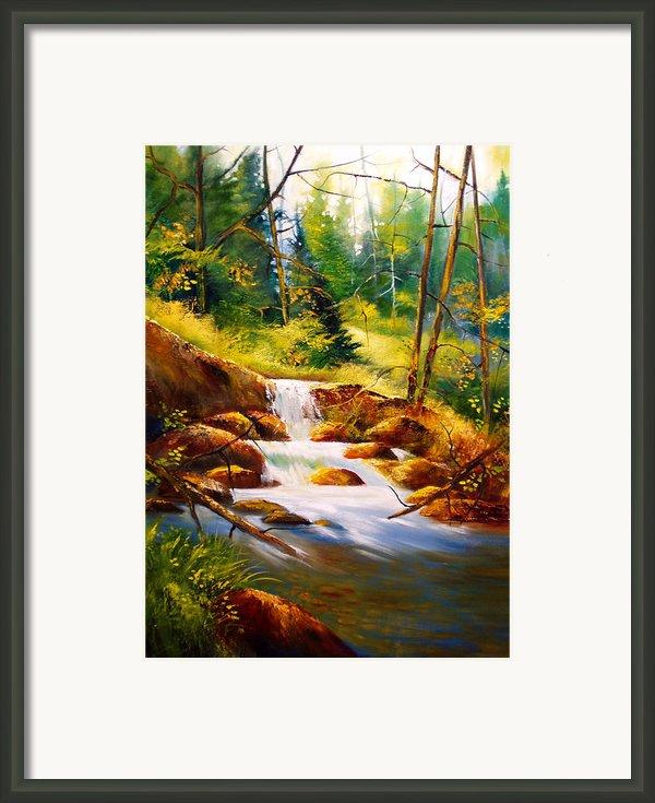 Deep Woods Beauty Framed Print By Robert Carver
