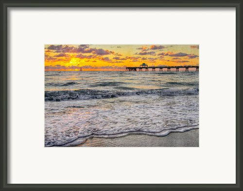 Deerfield Beach Framed Print By Debra And Dave Vanderlaan