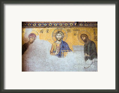 Deesis Mosaic Of Jesus Christ Framed Print By Artur Bogacki