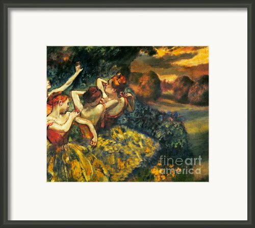 Degas: Four Dancers, C1899 Framed Print By Granger