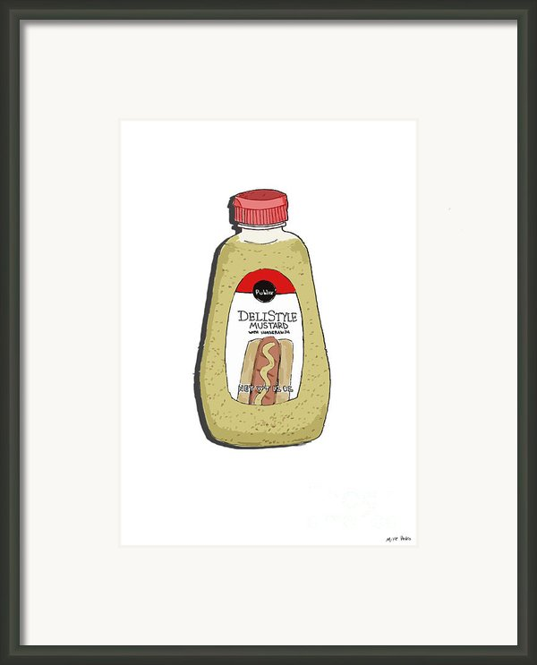 Deli Style Mustard Framed Print By George Pedro