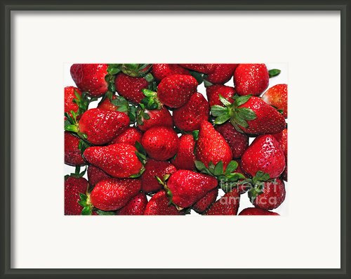 Deliciously Sweet Strawberries Framed Print By Kaye Menner