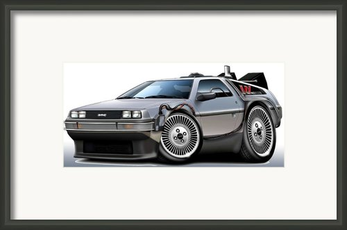 Delorean Back To The Future Framed Print By Maddmax